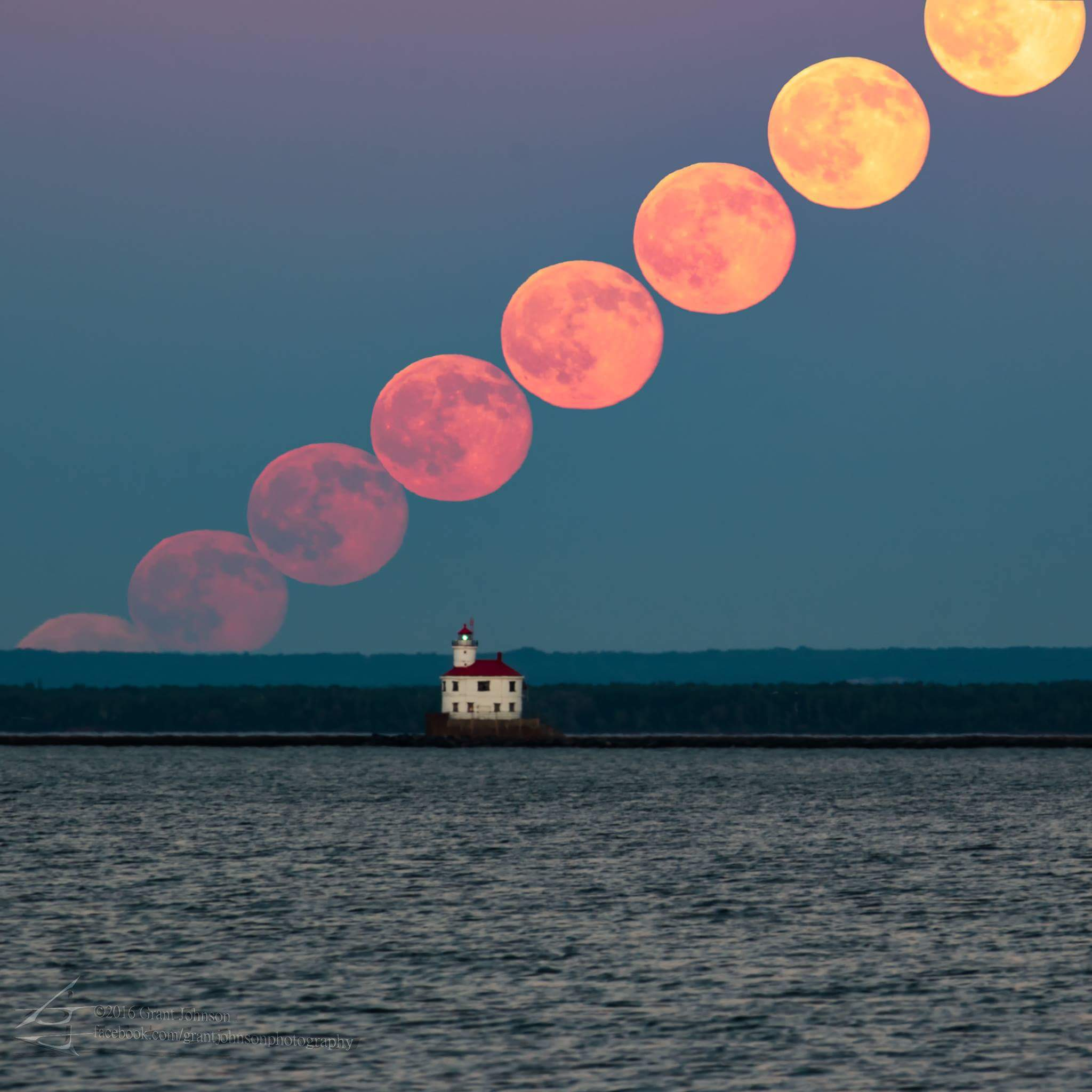 Many Moons over Duluth by Grant Johnson