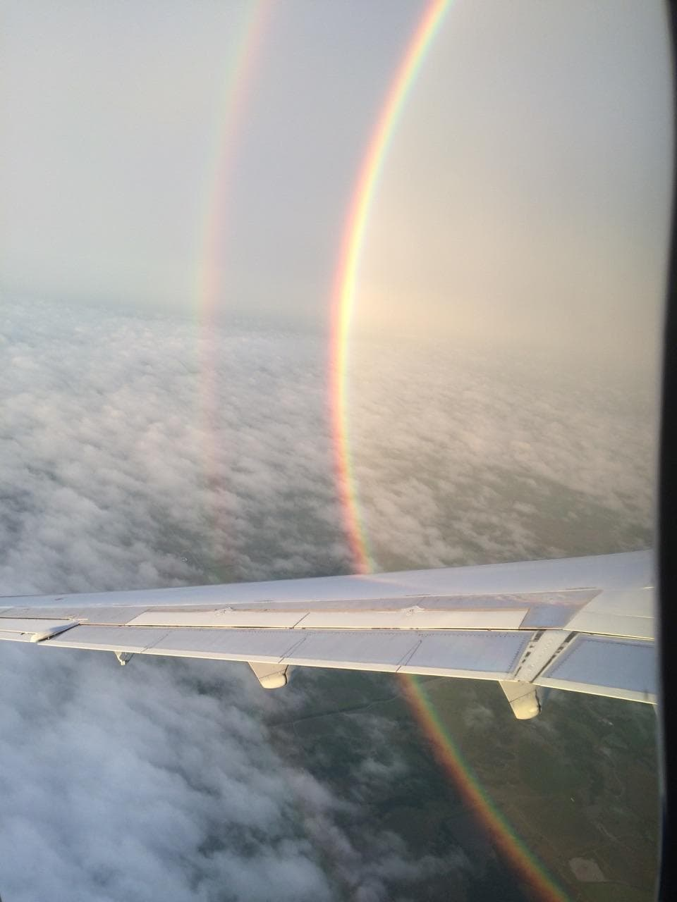 Double rainbow from plane