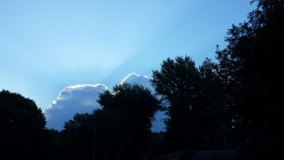 Clouds with silver lining
