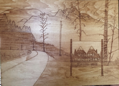 Twin Peaks wood carving
