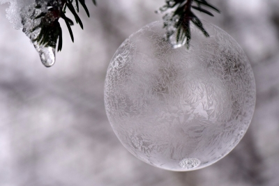 Icy Christmas ornament