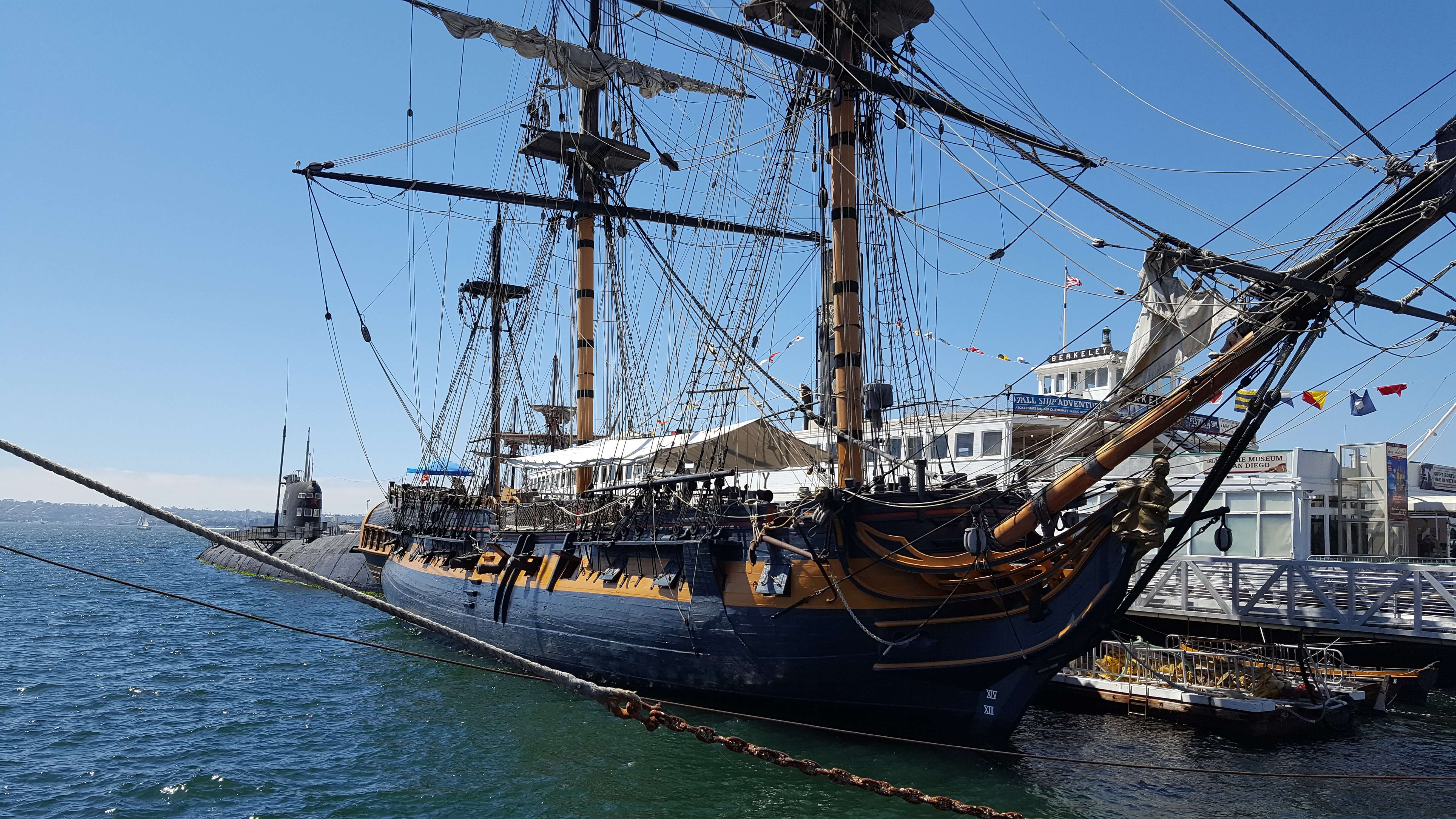 The stately HMS Surprise