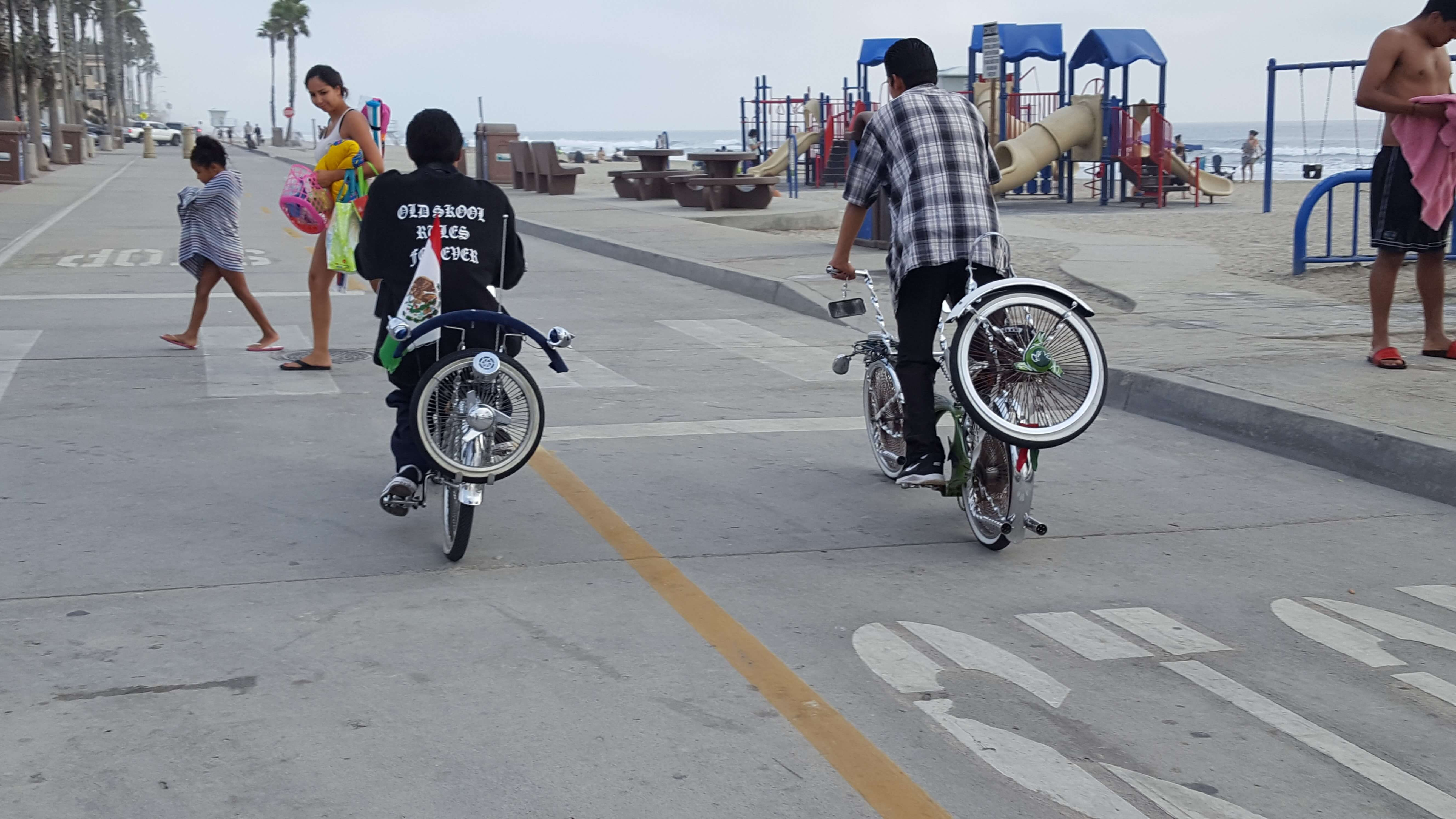 Decked out bicycles at Oceanside Pier