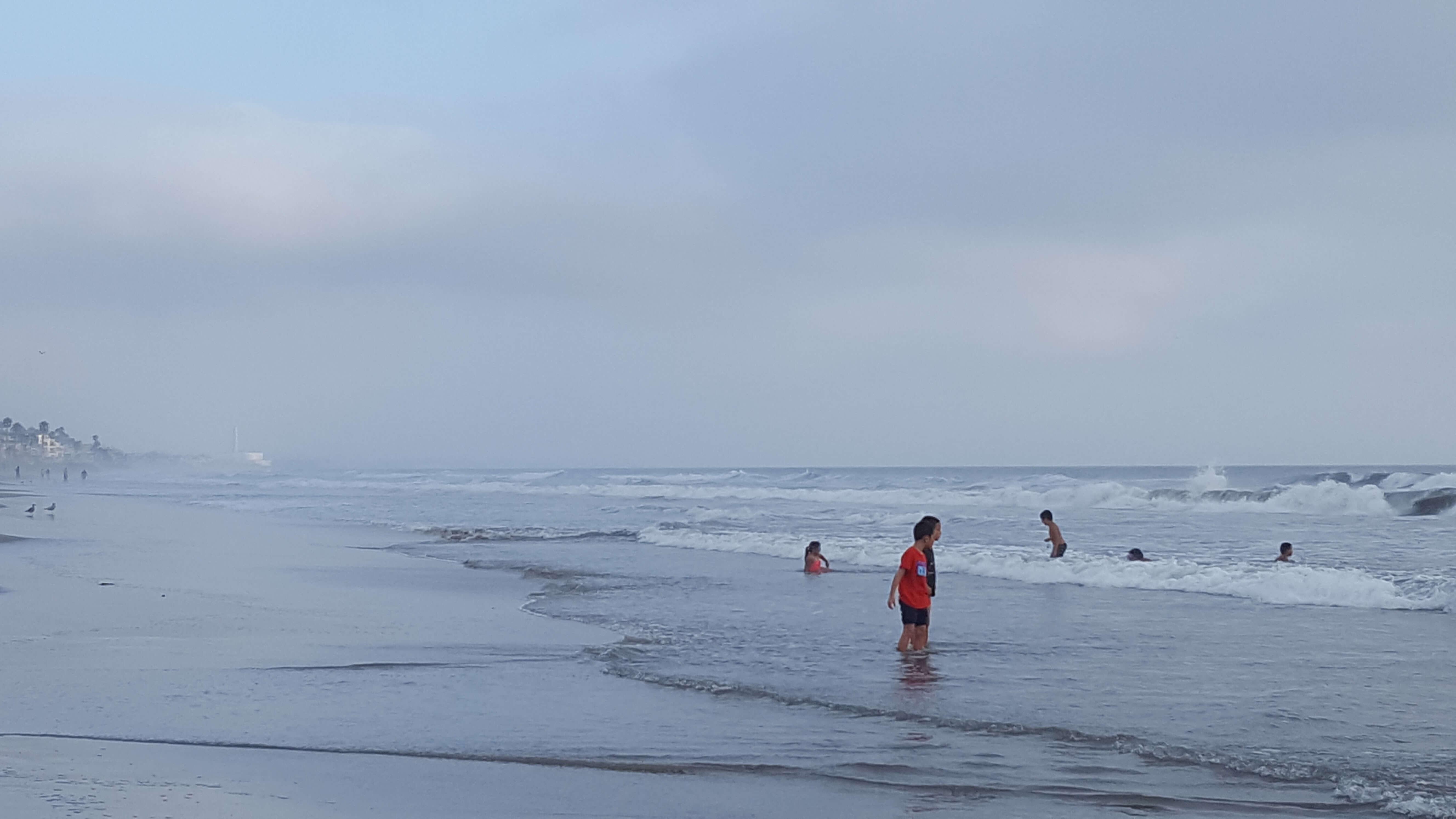 Waves on Pacific Ocean at Oceanside, CA