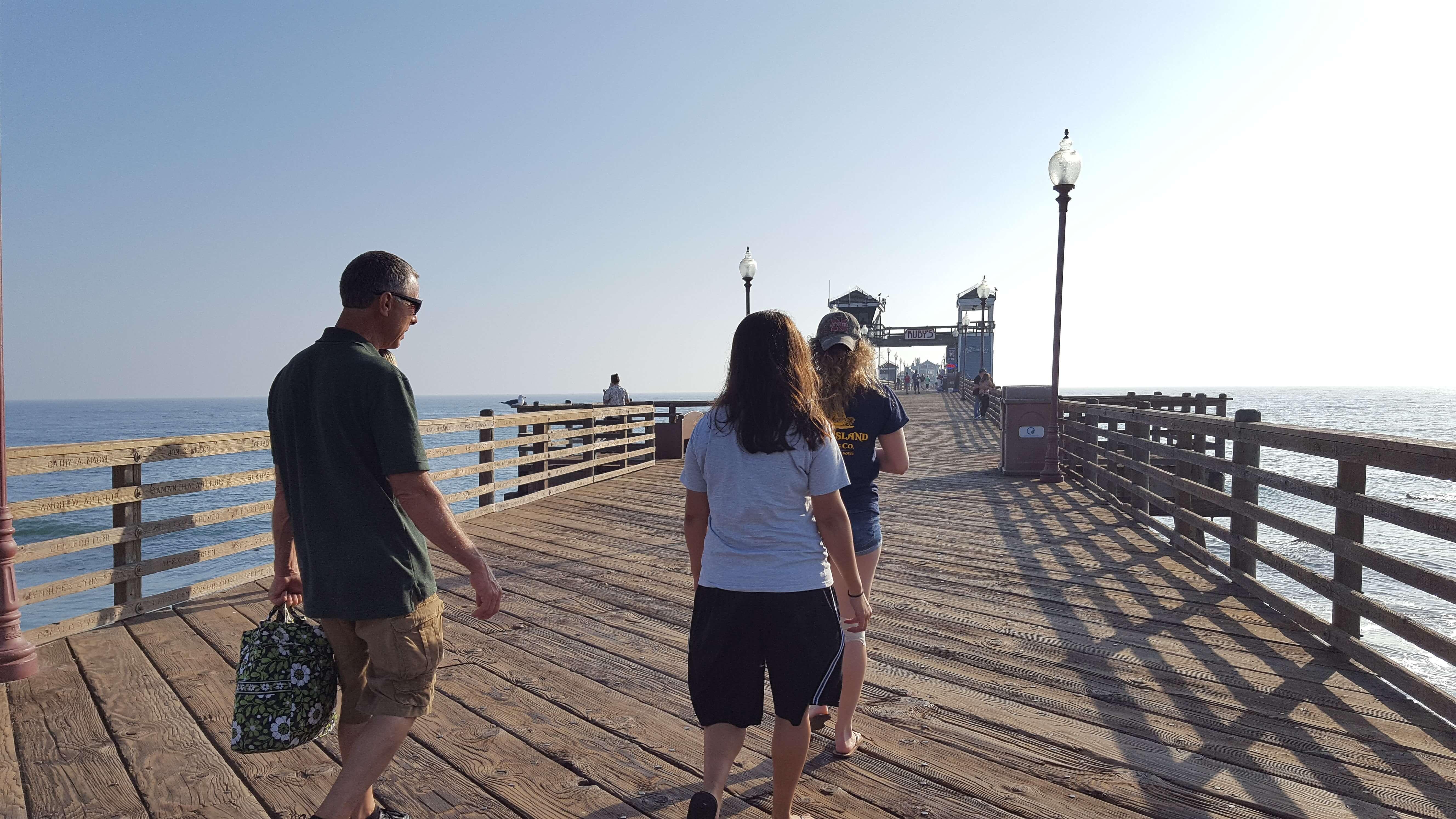 Strolling on Oceanside Pier