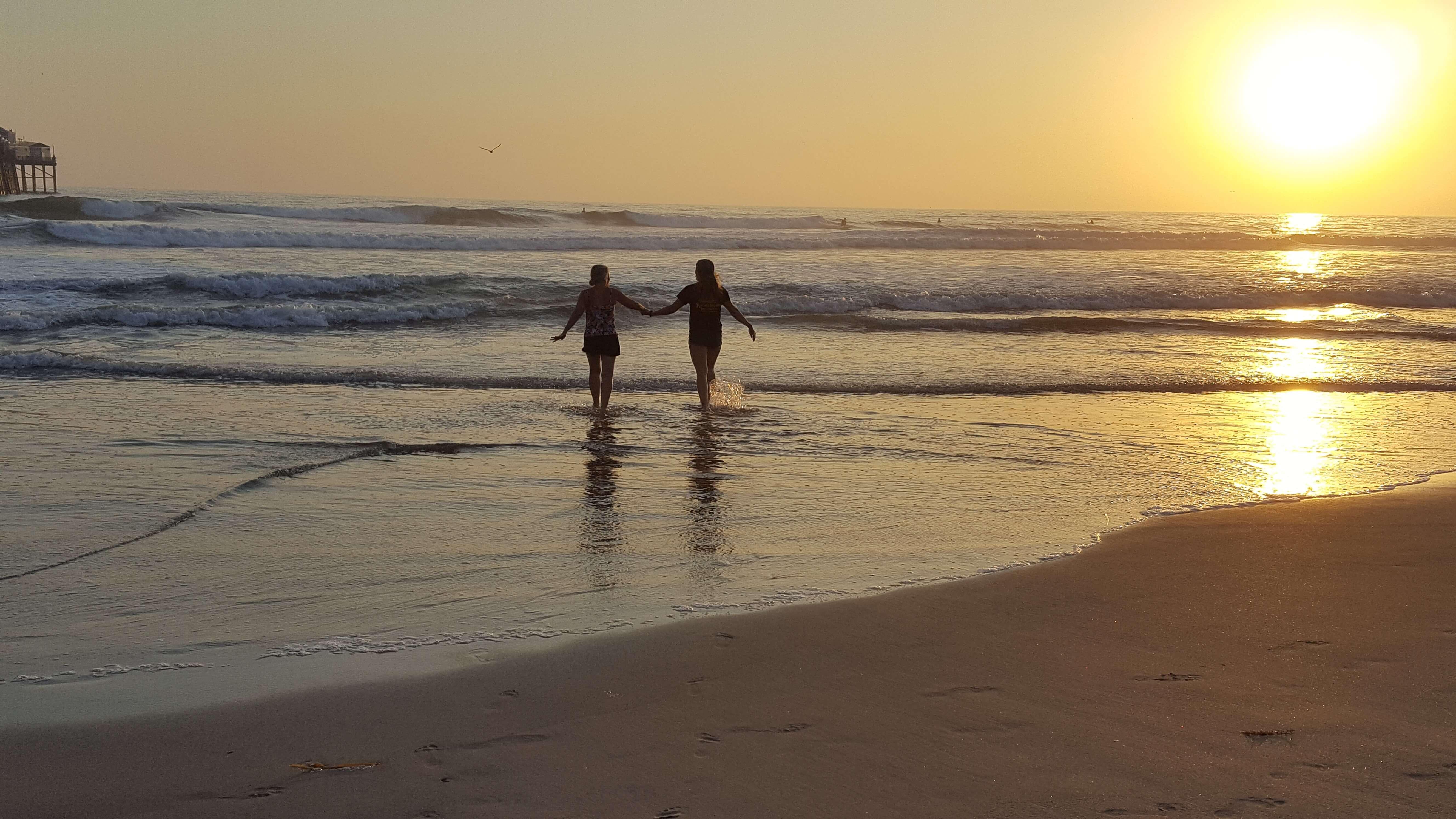 Pacific Ocean golden sunset