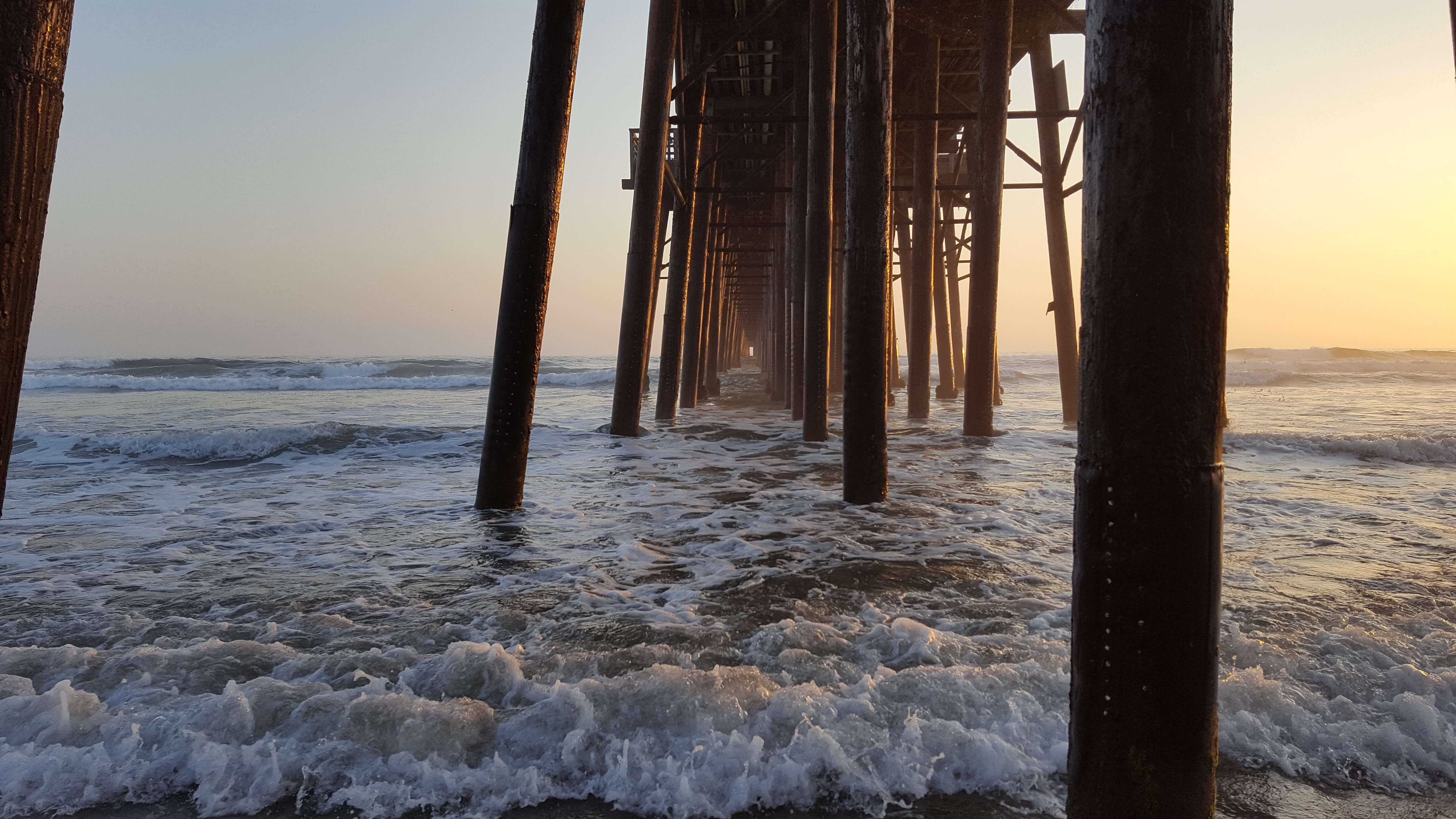 Mesmerizing waves under Oceanside Pier
