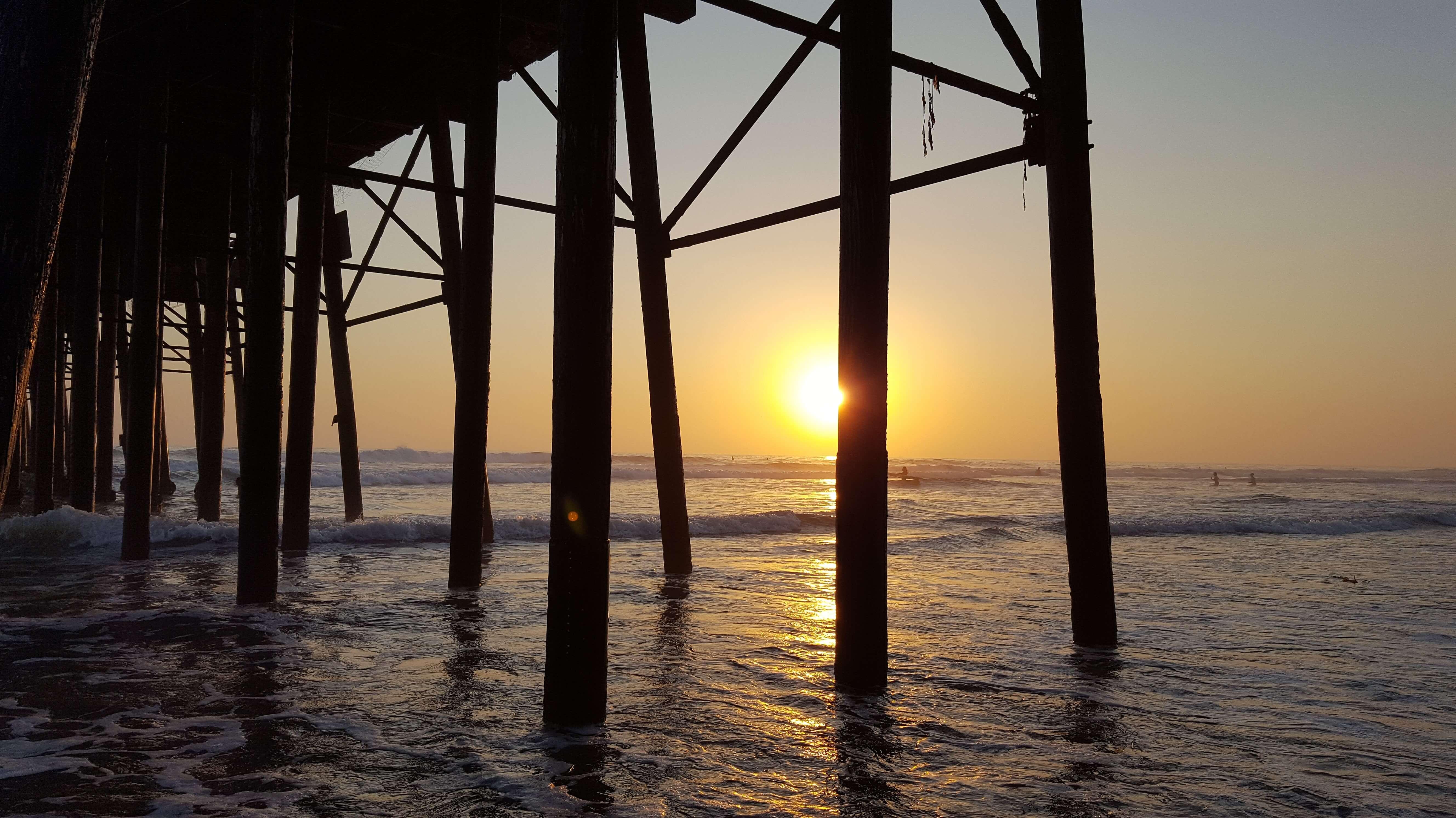 Sunset under Oceanside Pier
