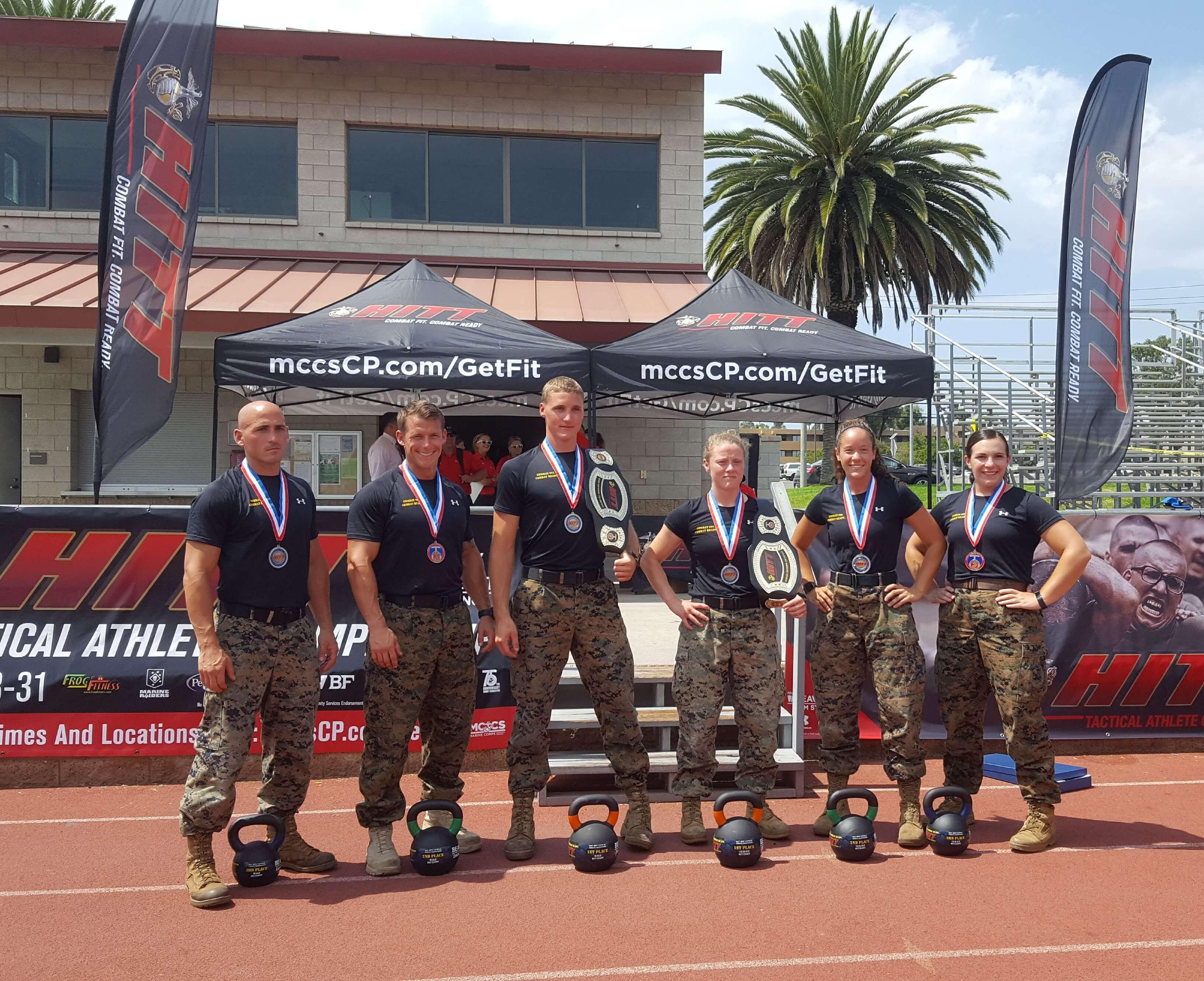 Winners of the 2017 HITT, Marine corps