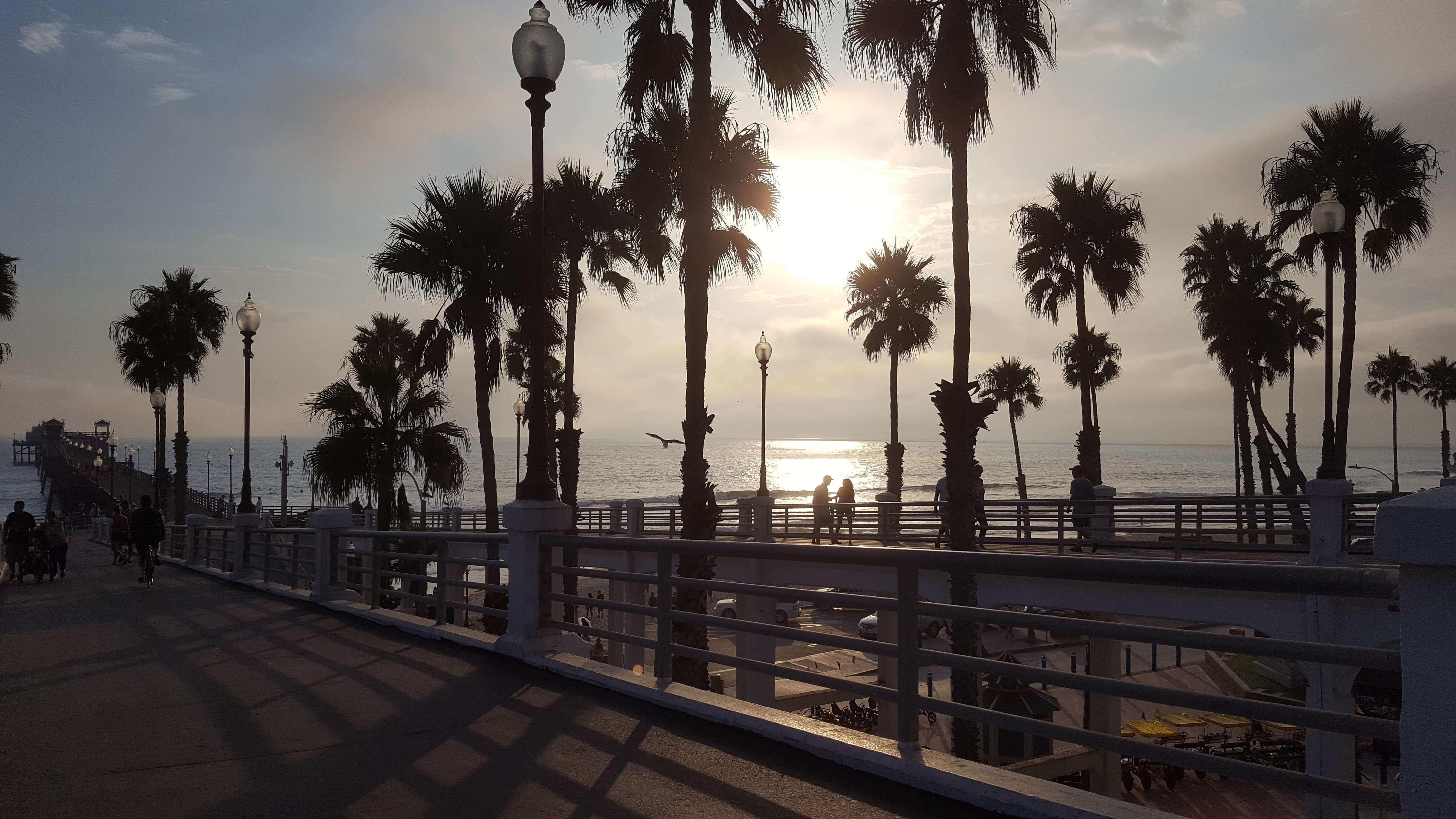 Sunset on Oceanside Pier