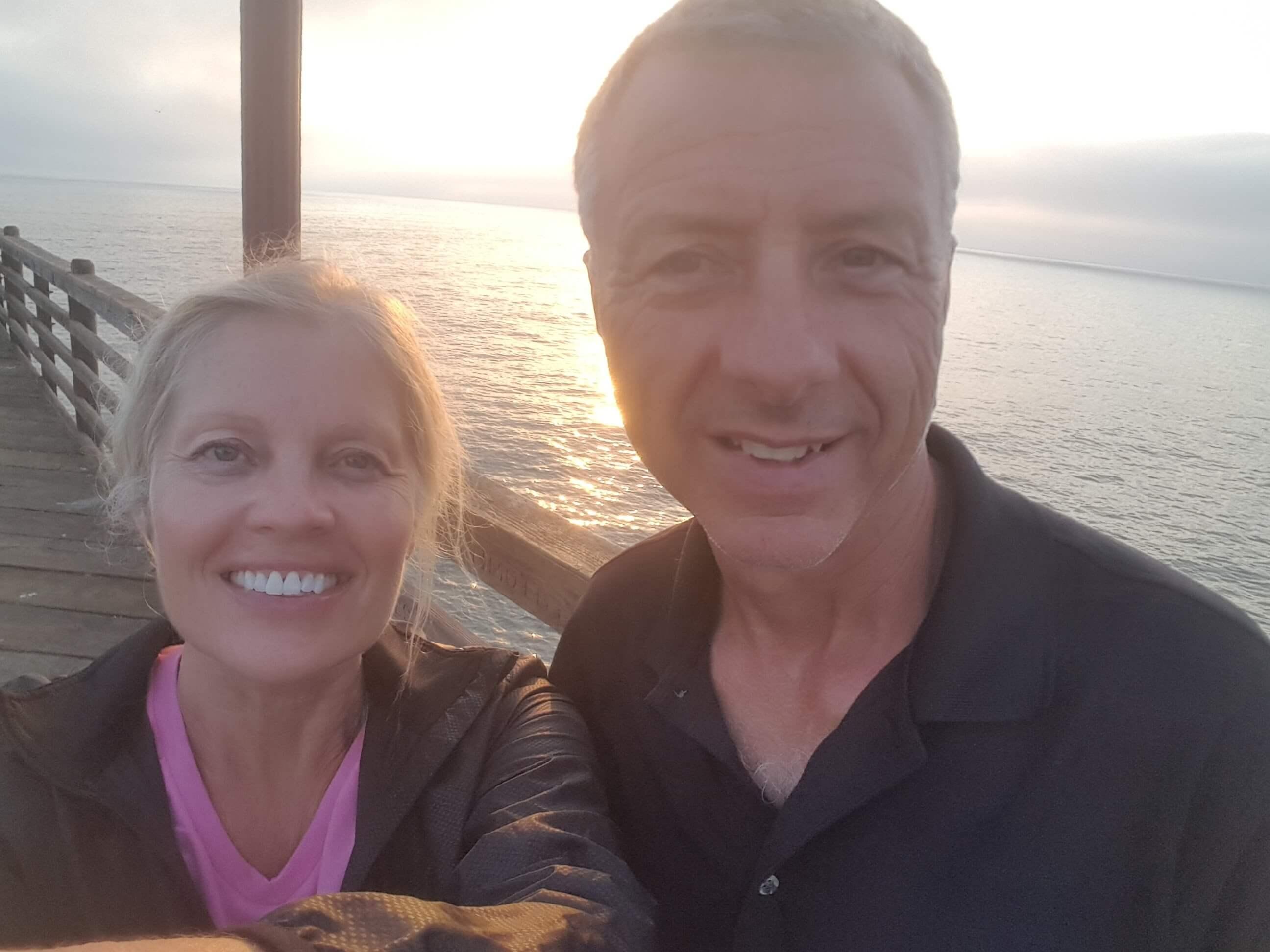 Having fun on the Oceanside Pier