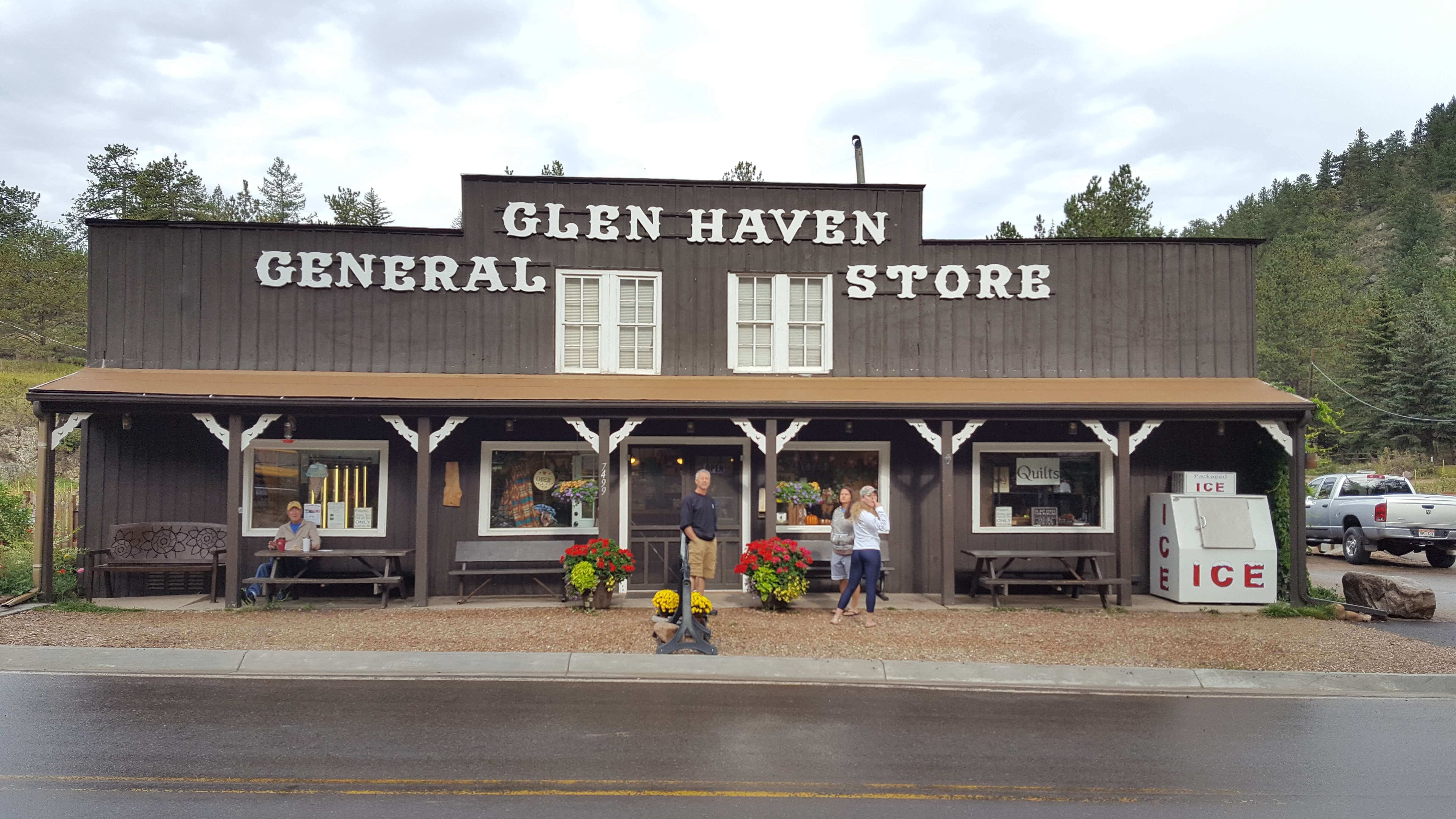 Glen Haven, CO General Store, home of the giant cinnamon rolls