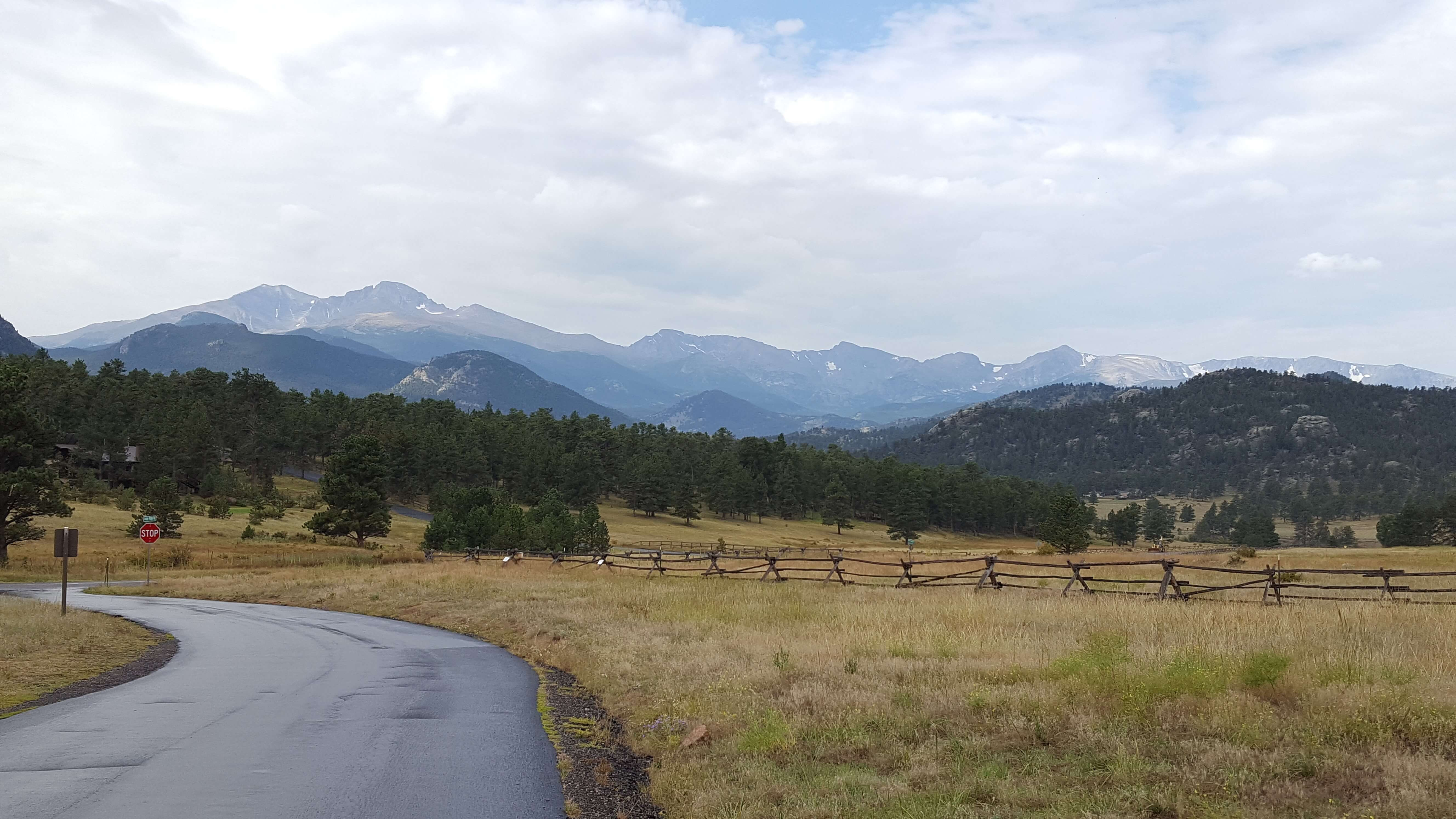 View from Devil's Gulch Rd outside of Estes Park