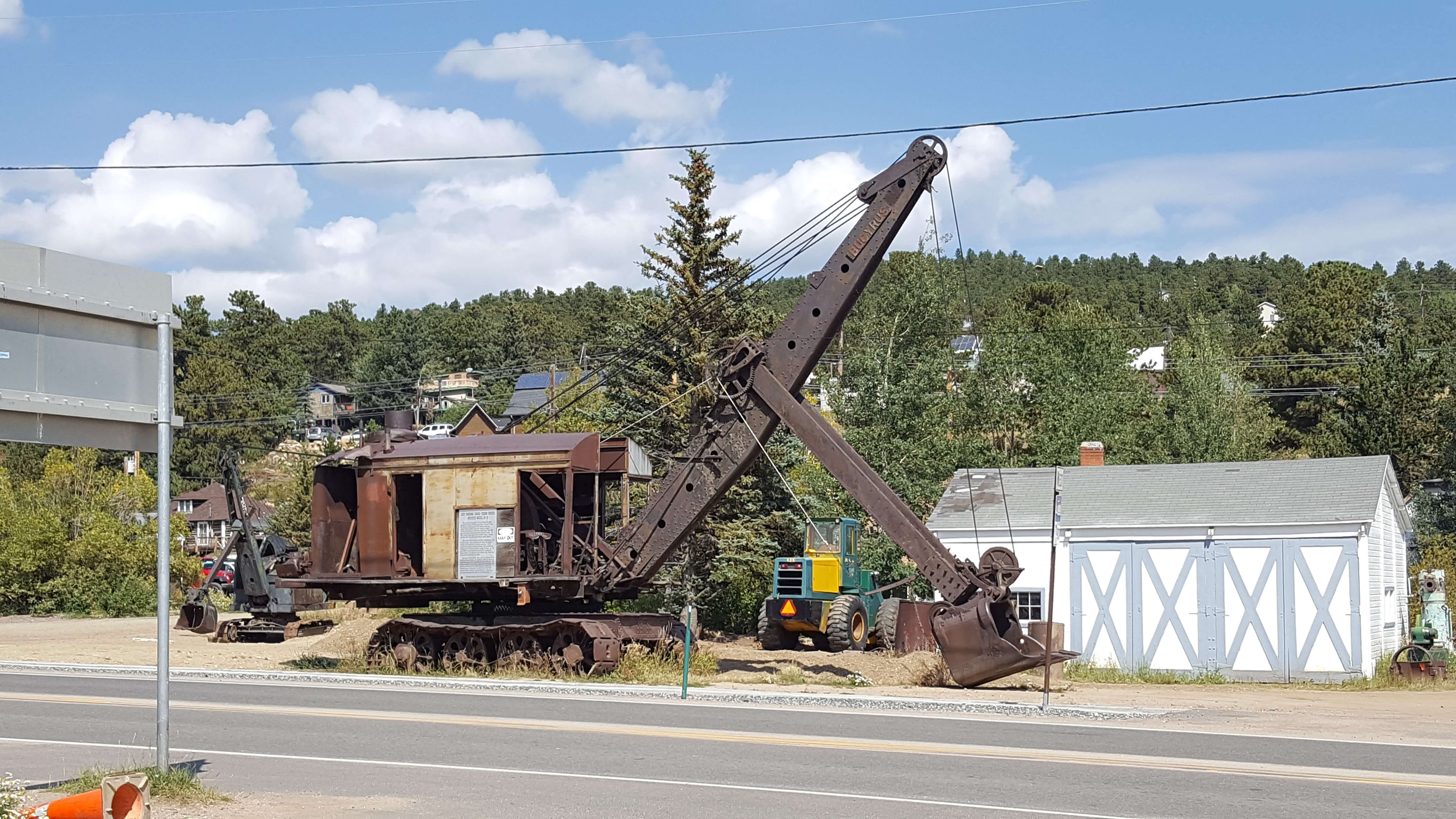 Steam shovel in Nederland, CO