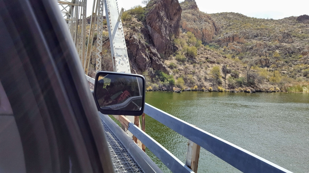 One-lane bridge on Apache Trail, near Apache Junction, AZ