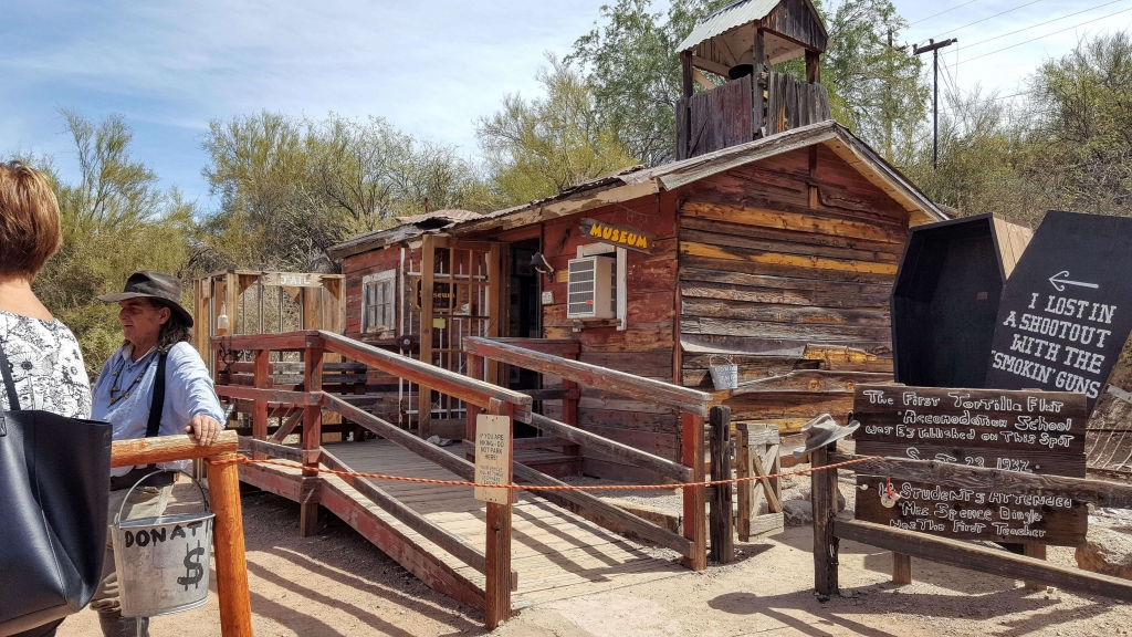 Authentic one-room schoolhouse at Tortilla Flat, AZ