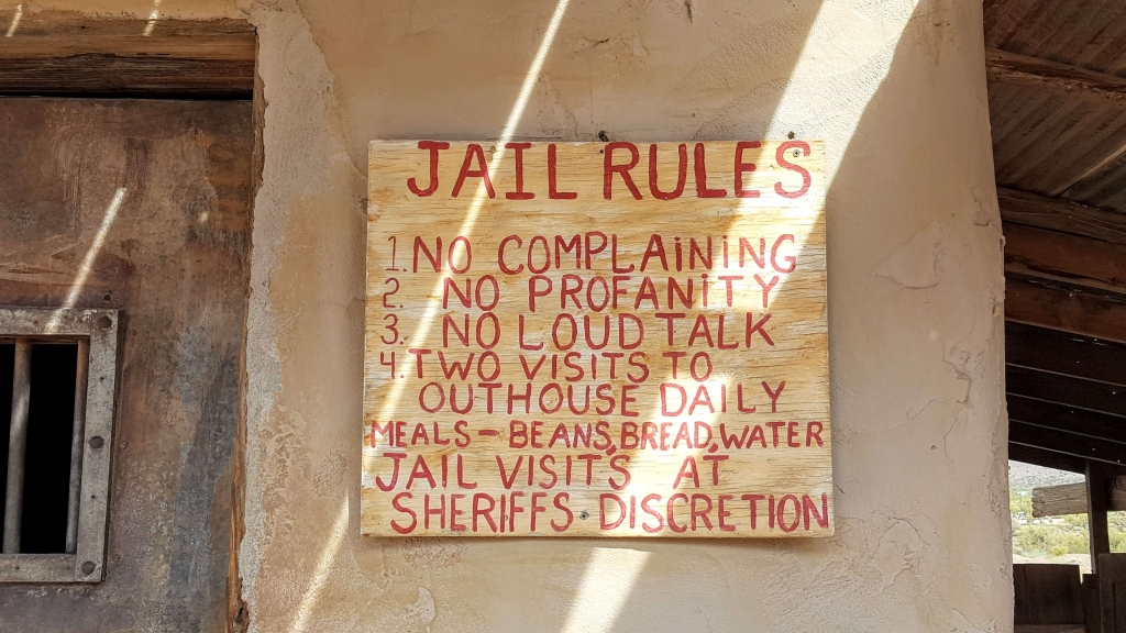 Jail Rules in Goldfield Ghost Town