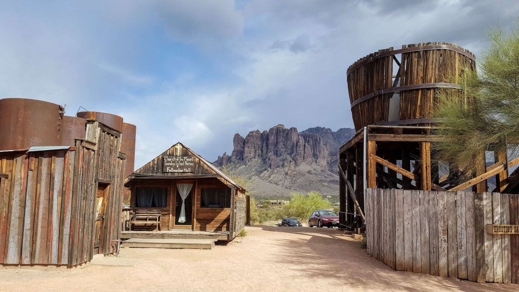 A view of the Superstition Mts from Goldfield Ghost Town, AZ