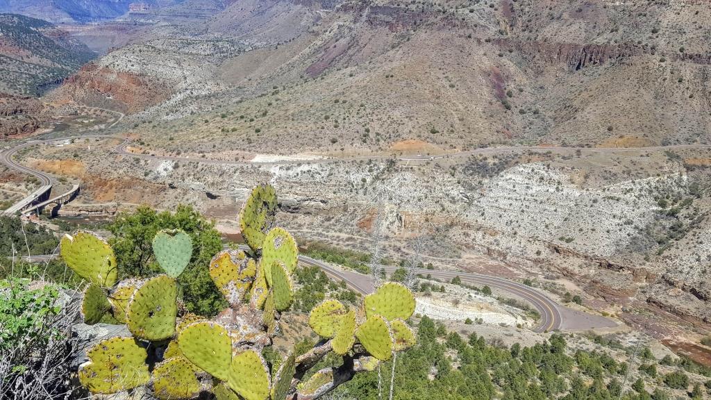 The incredible Salt River Canyon in Arizona