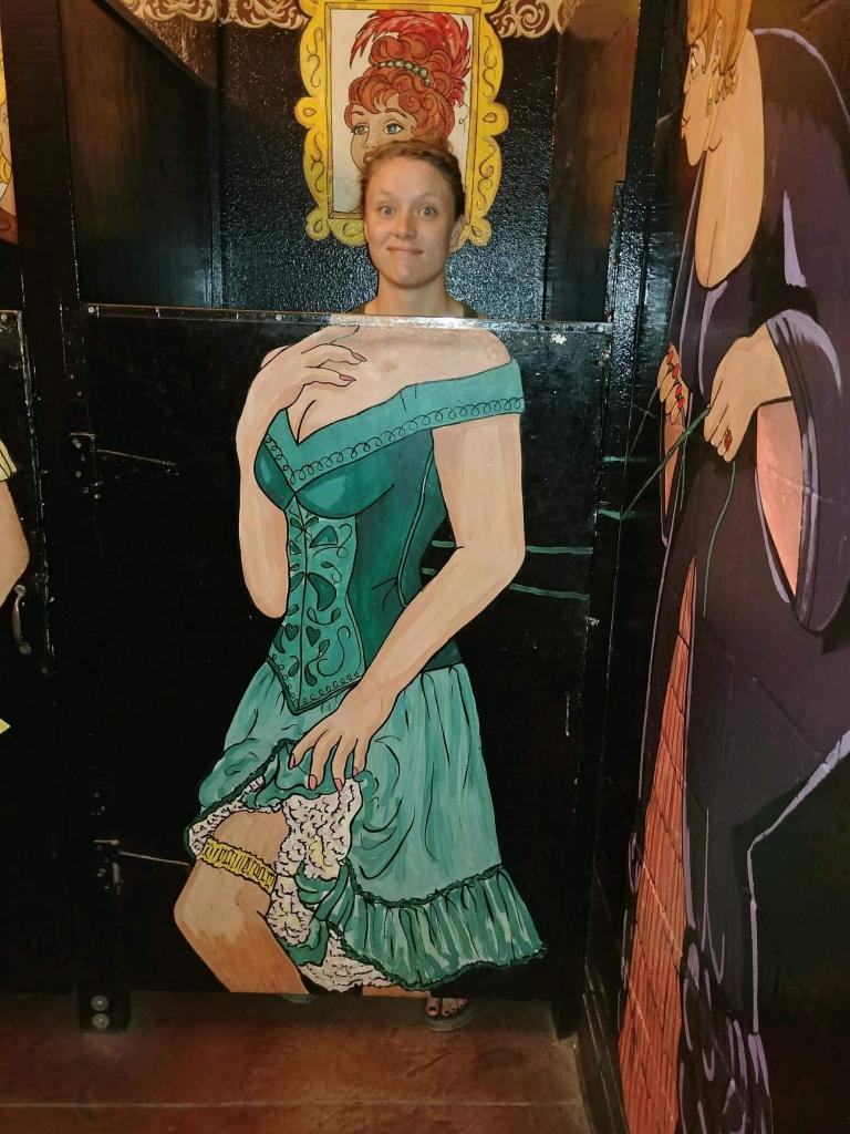 The saloon girl restrooms at Tortilla Flat, AZ