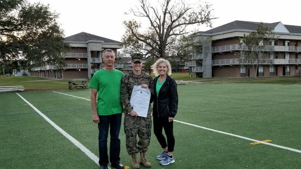 A new Staff Sergeant and her proud parents