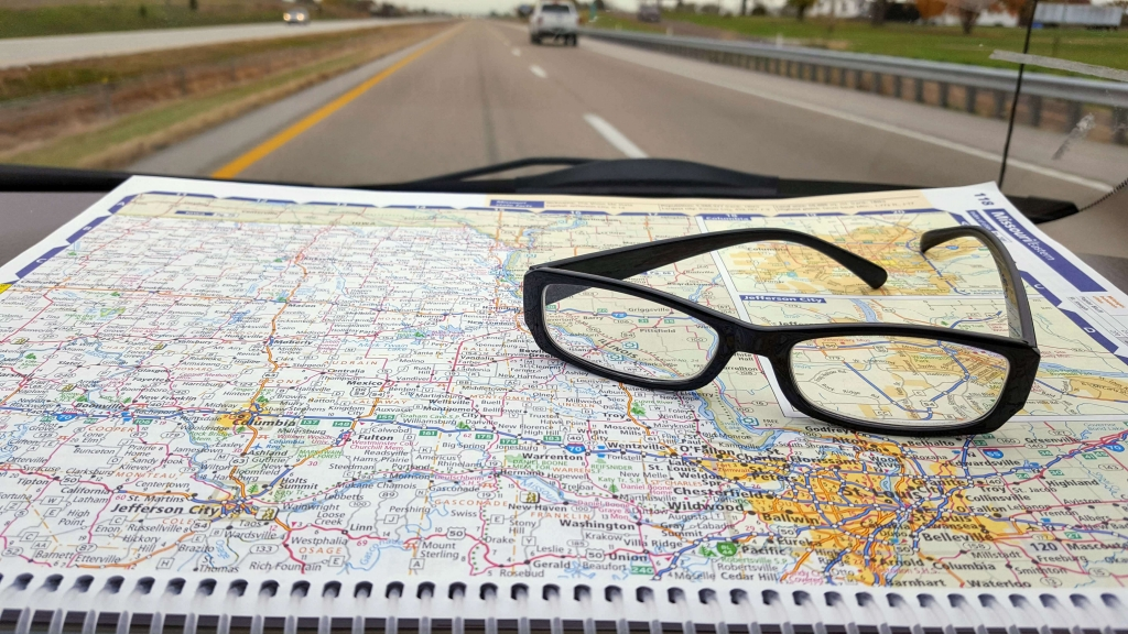 Road tripping with an atlas