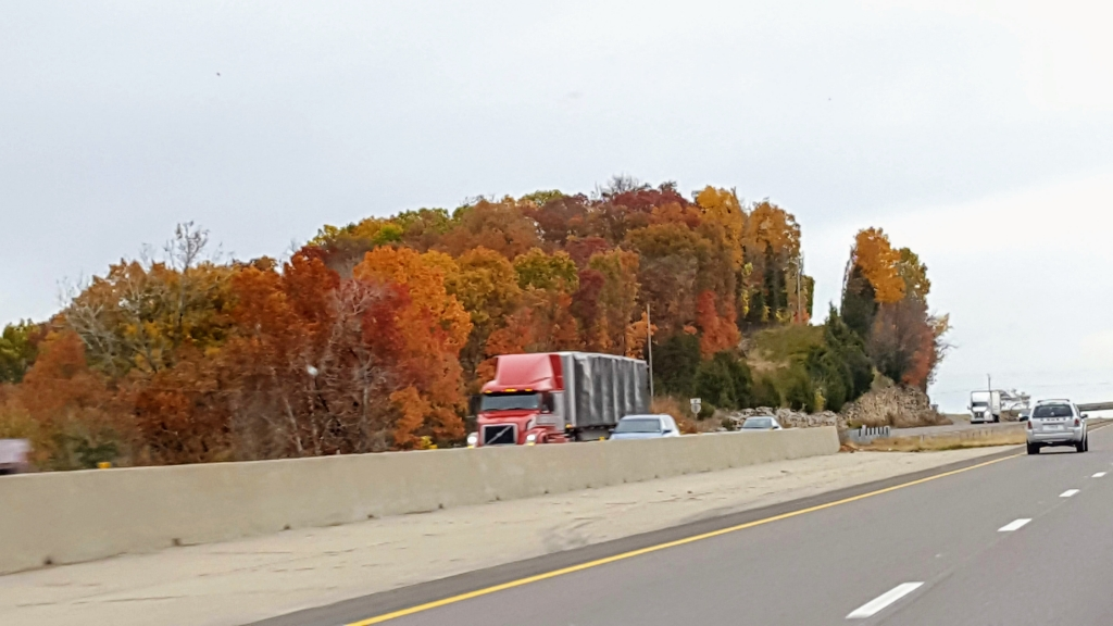 Fall colors on the interstate