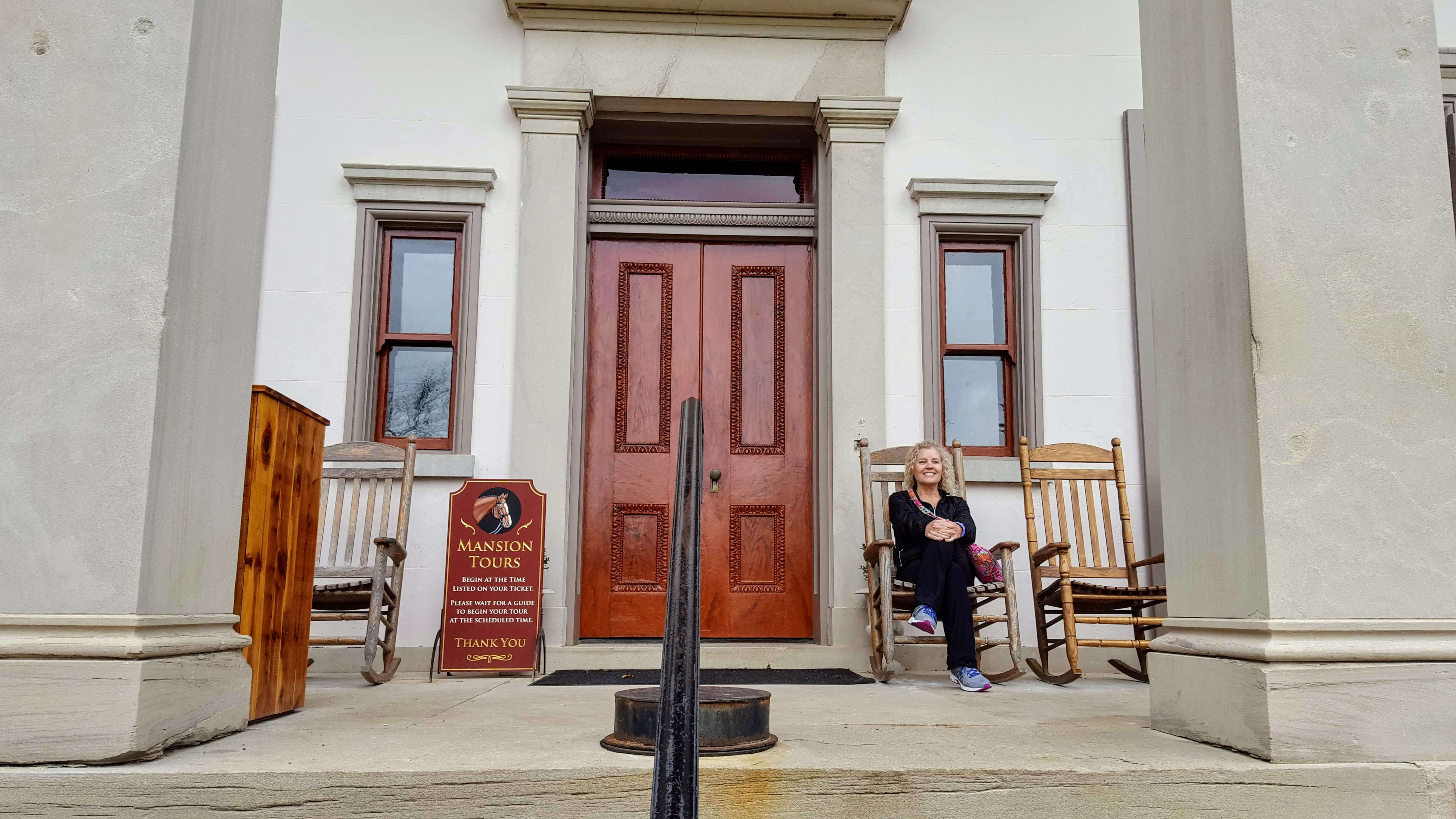 Belle Meade mansion front porch