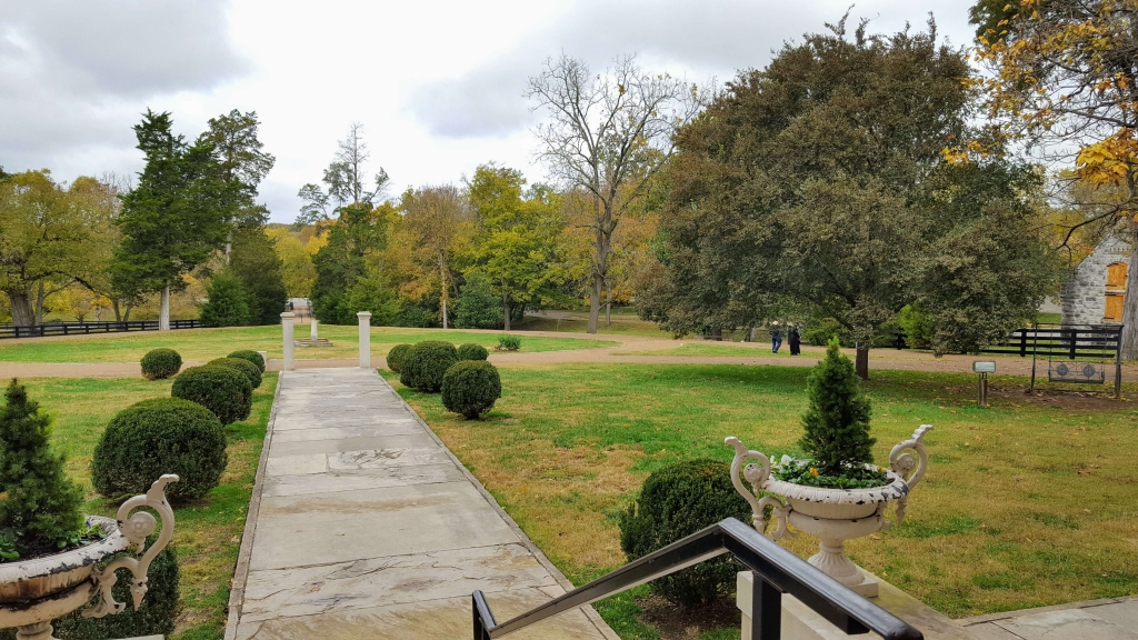 View from the front porch of Belle Meade Mansion