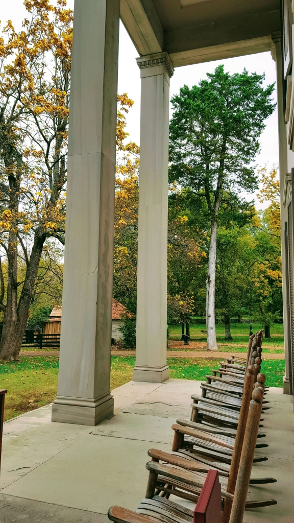 Sitting on the porch at Belle Meade Plantation