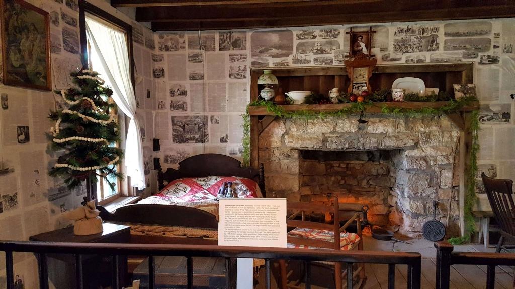 Inside an 1820s cabin, Belle Meade Plantation