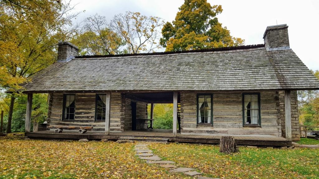 Original cabin on the Belle Meade Plantation property