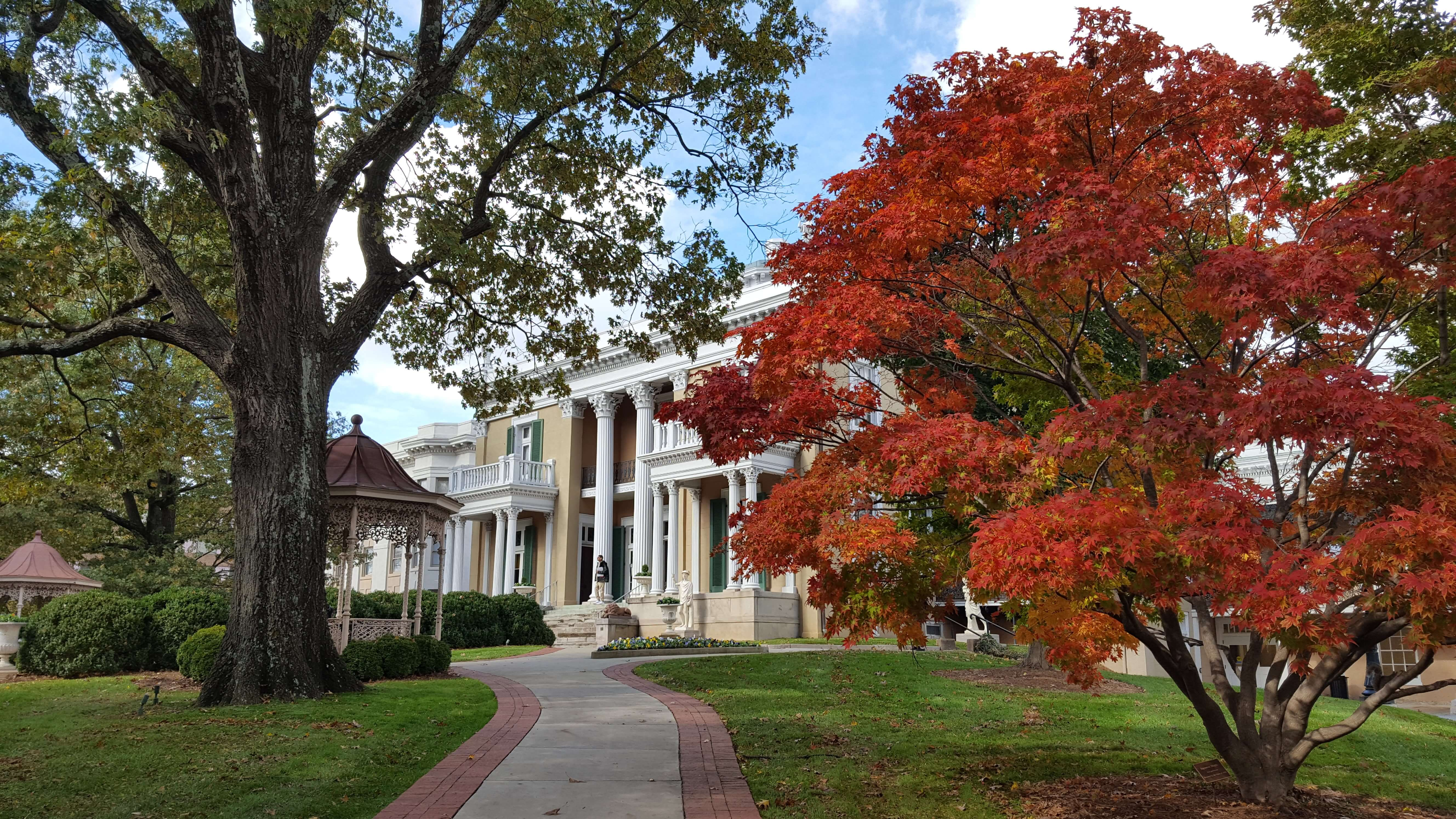 The Belmont Mansion in autumn