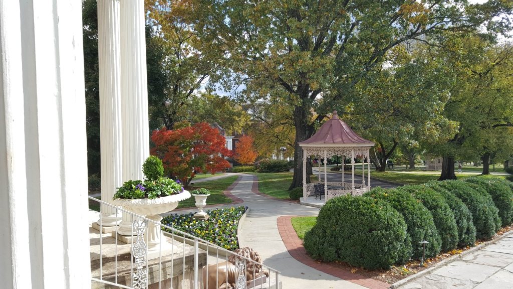 Beautiful grounds of Belmont Mansion in Nashville, TN