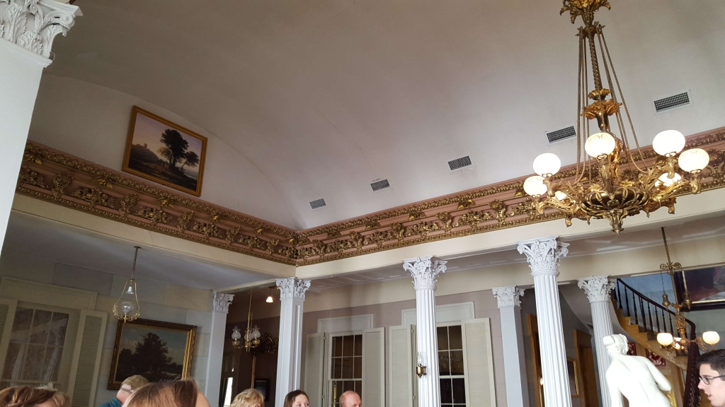 Barrel-type ceiling of the Grand Salon at Belmont Mansion in Nashville, TN