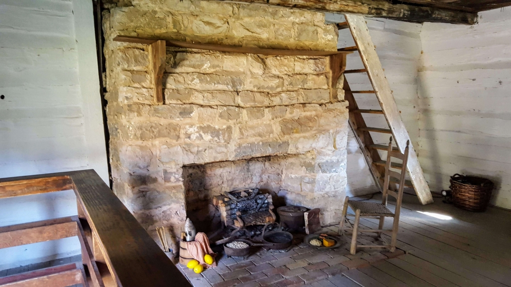 Original fireplace in Uncle Alfred's cabin at the Hermitage, Nashville, TN