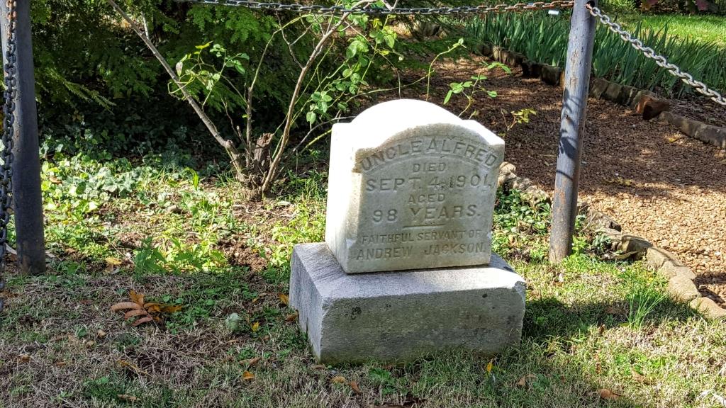Alfred's grave in the Hermitage garden, Nashville, TN