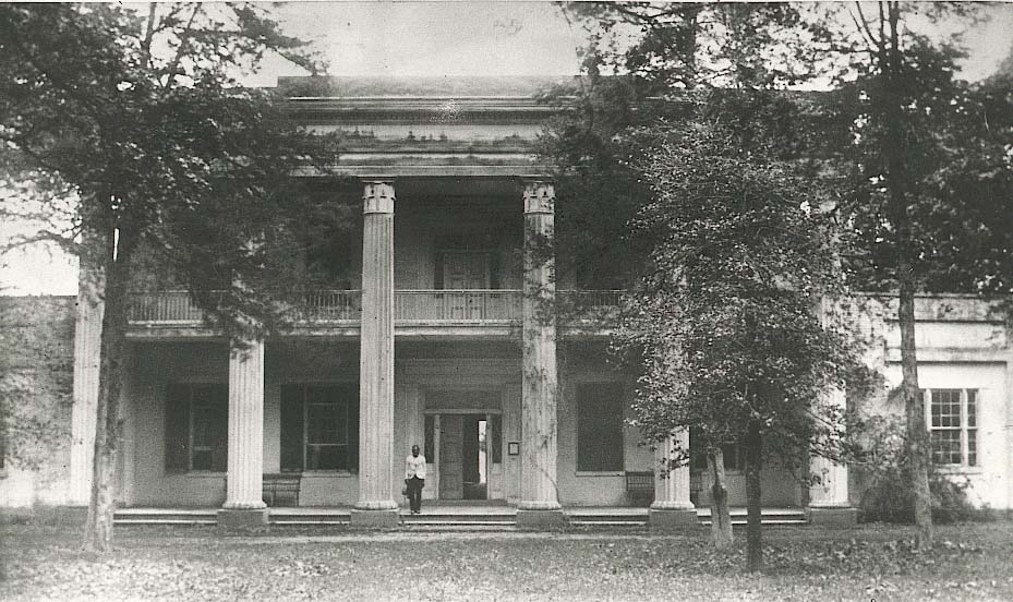 Black man in front of Hermitage, Nashville, TN